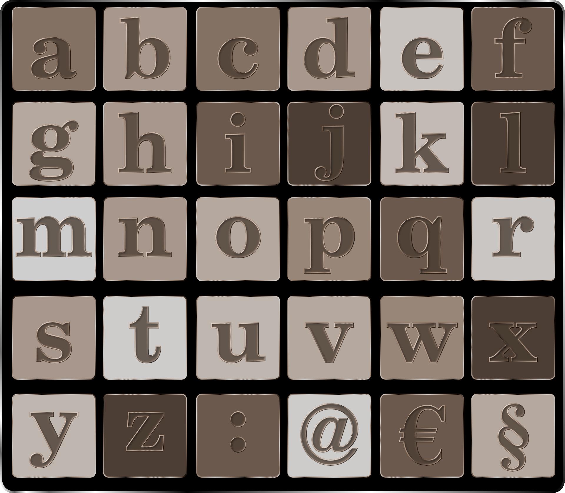 Buchstabenwert und Buchstabenwortwert ermitteln